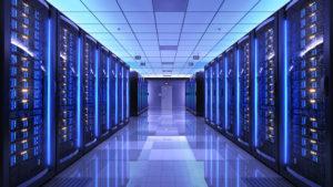 Server racks in server room